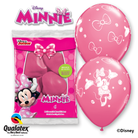 Disney Minnie Mouse Pink Balloons 6 Pack